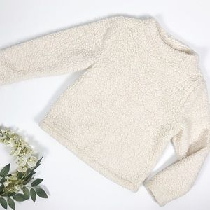 Silence + Noise Nude Sherpa Pullover Sweater